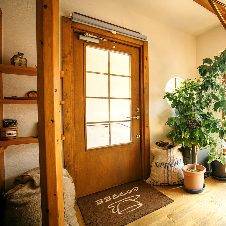 MOPTOP施工事例 光を取り込むドア