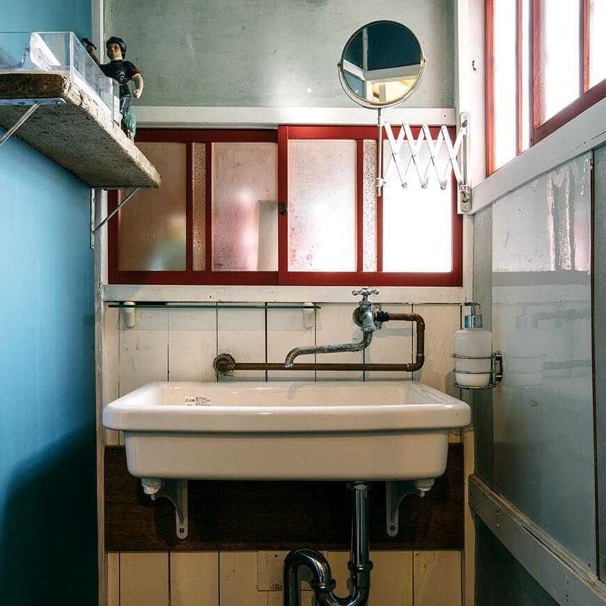 MOPTOP施工事例 POUND 洗面台も素敵