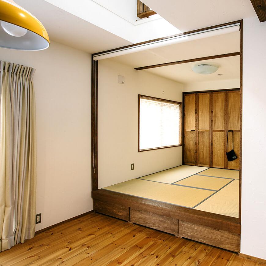 MOPTOP施工事例 小峰邸 小上がりの和室スペース