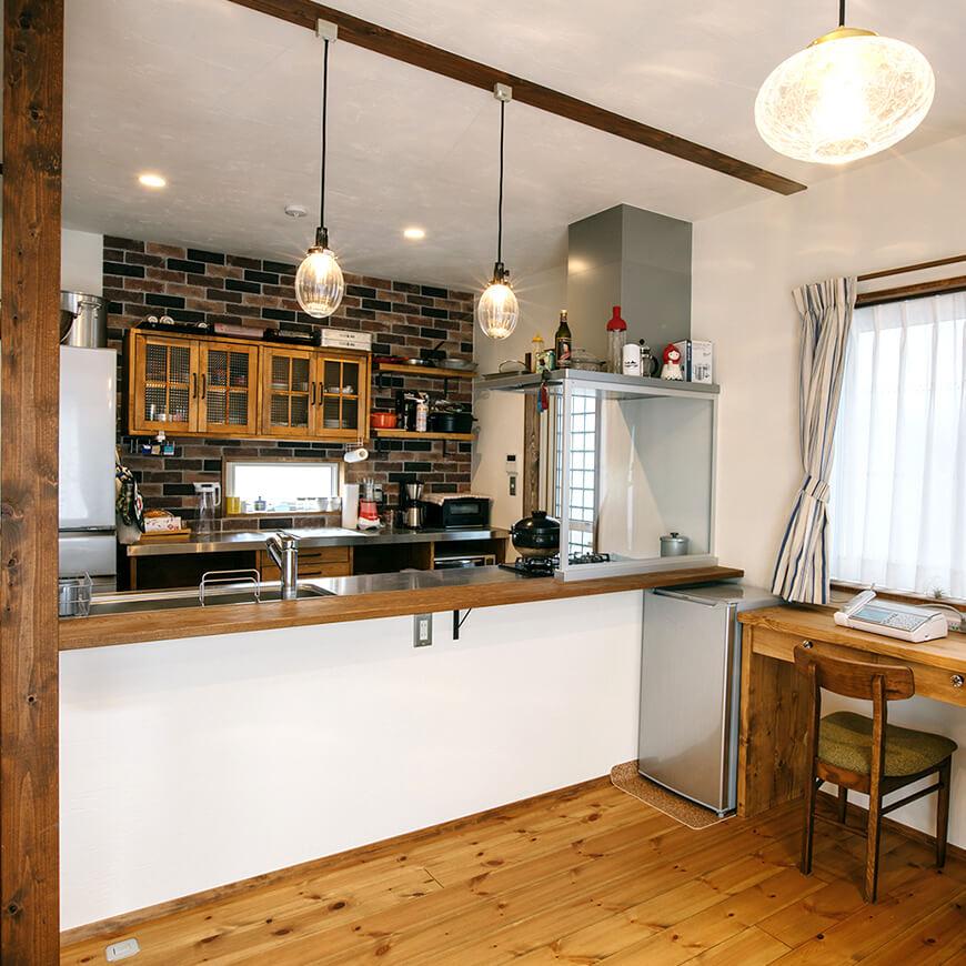MOPTOP施工事例 小峰邸 本格的なキッチン