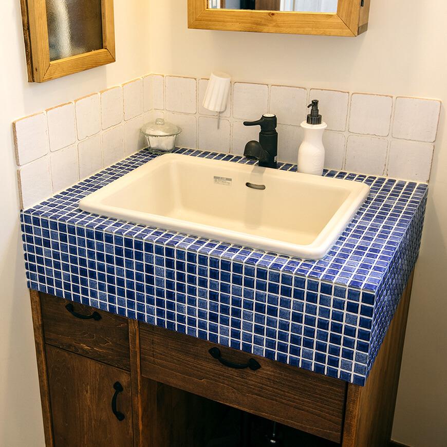 MOPTOP施工事例 小峰邸 お洒落な洗面台