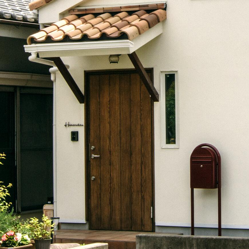 MOPTOP施工事例 濱中邸 玄関周りもこだわりのパーツをふんだんに使用