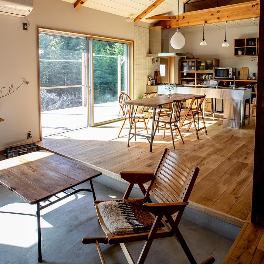 土間・リビング・キッチン。どこも日当たりが最高です