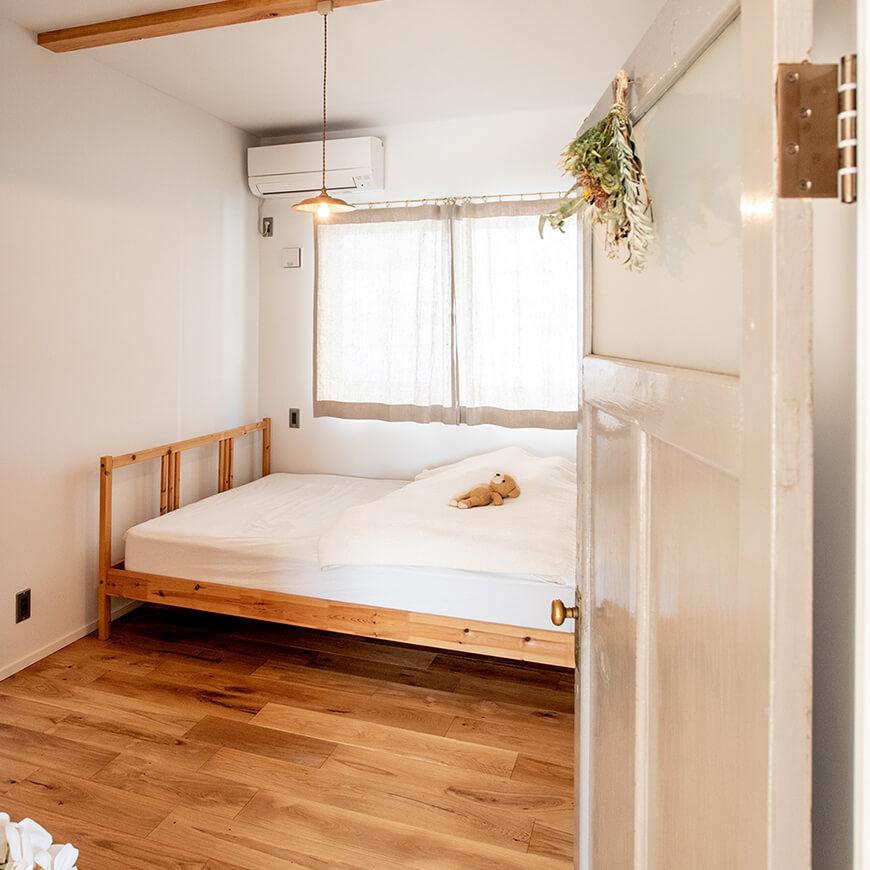 落ち着いて休める寝室